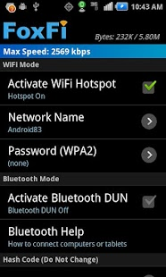 Download FoxFi (WiFi Tether w/o Root)